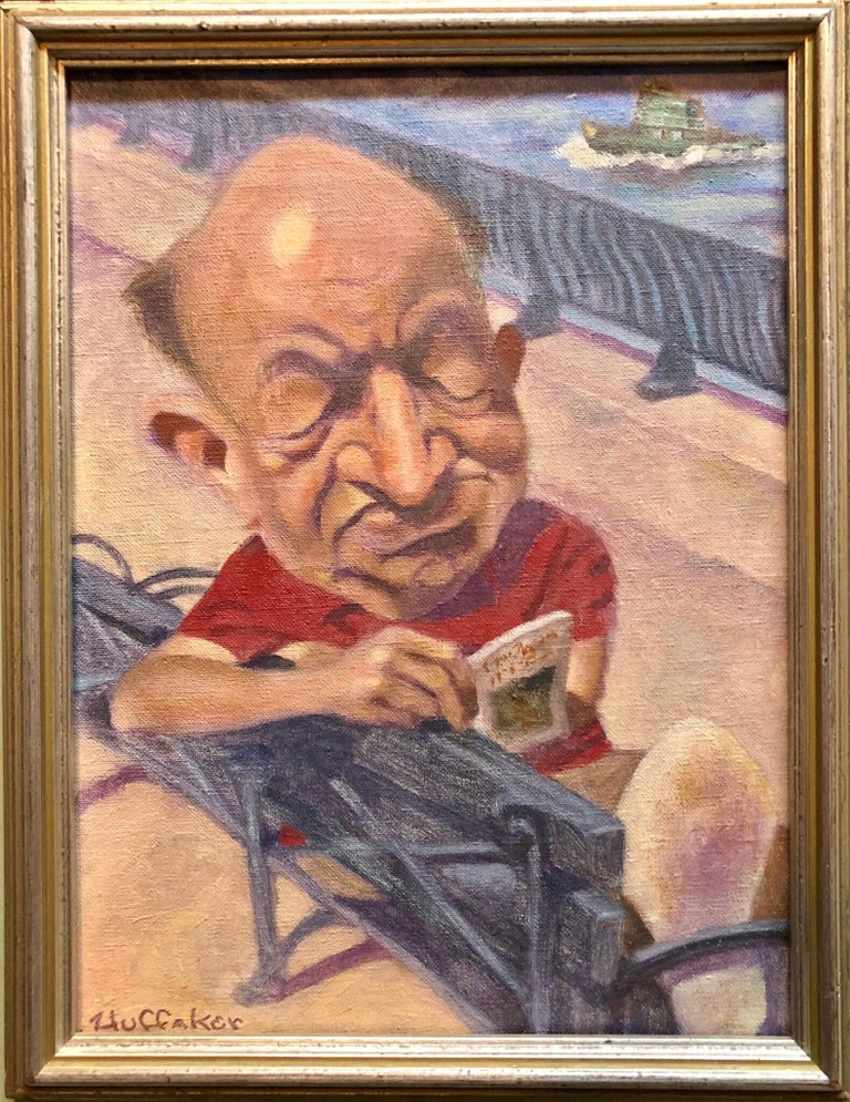 Oil Painting by Well Known Cartoonist and Illustrator Upper East Side, Manhattan