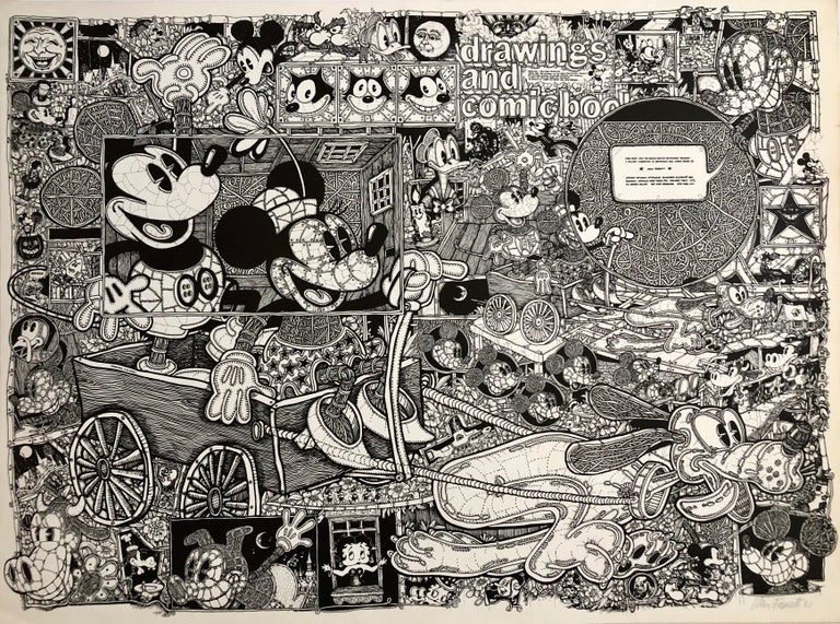 Vintage Pop Art Mickey Mouse Comics Offset lithograph Poster Ok Harris Gallery