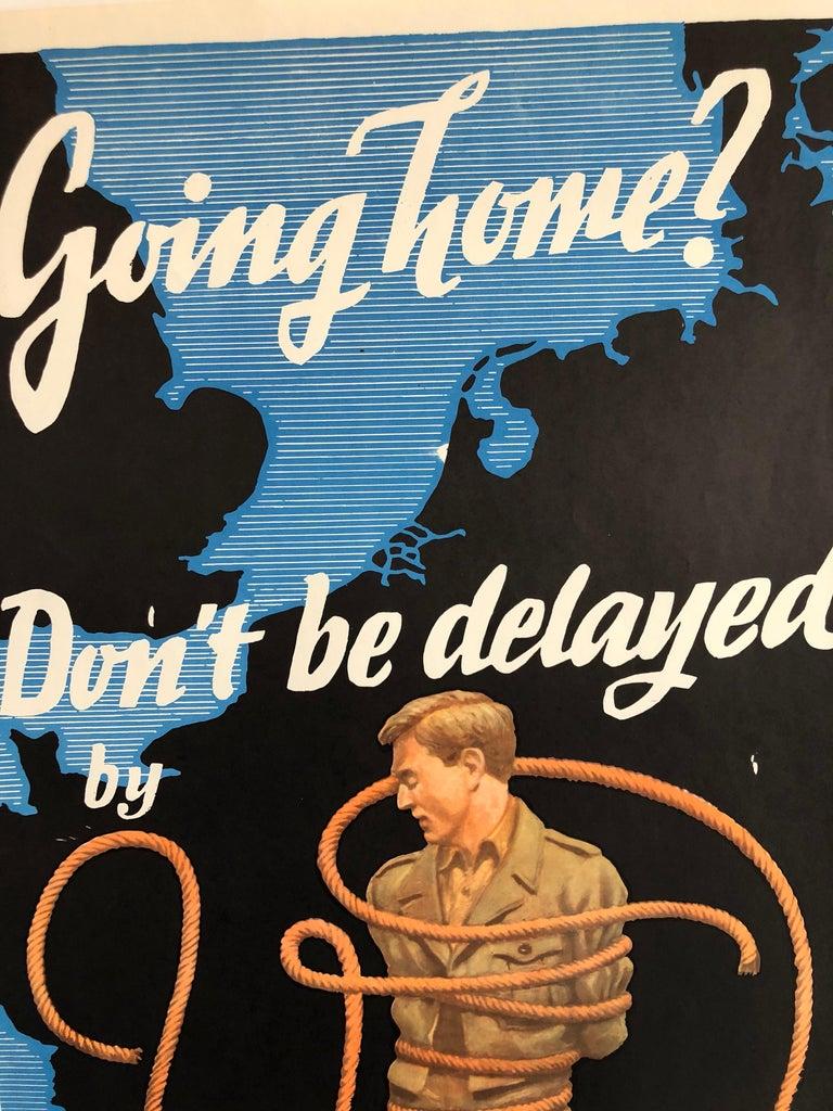 Original Vintage Color World War II Propaganda Poster Soldier Offset Lithograph - Black Figurative Print by Franz Oswald Schiffers