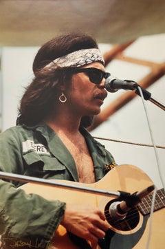 Original Hand Signed Rock & Roll Photograph Woodstock Country Joe Macdonald
