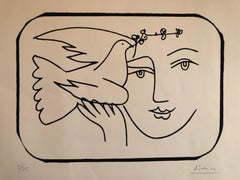 Boy with Dove Limited Edition Screen Print or Lithograph