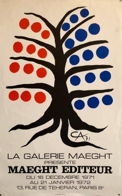 Vintage Poster 1971 Galerie Maeght Arte Paris Tree with Fruit Lithograph