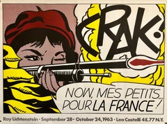 Vintage Offset Lithograph 'CRAK' Roy Lichtenstein Pop Art Castelli Poster