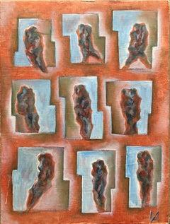 Matthias Alfen German Sculptor Modern Expressionist Painting Psychogram