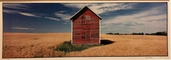 Everts Township Homestead, Summer. Large Panoramic Color Photograph Signed