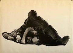 El Herido, 1960's Spanish Avant Garde Political Screenprint Lithograph Signed