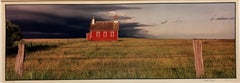 Everts Township Schoolhouse, Summer. Large Panoramic Color Photograph Signed