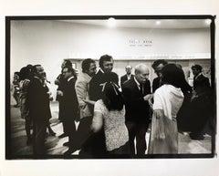 Silver Gelatin Print Signed Photograph Rauschenberg, Jasper Johns Guggenheim NYC