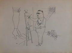 1936 Lithograph Interregnum portfolio Artist Studio small edition Weimar Germany