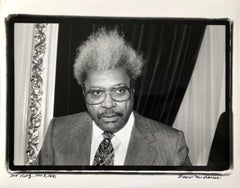 Vintage Print Silver Gelatin Signed Photograph Don King Boxing Promoter Big Hair