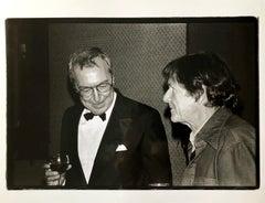 Vintage Print Silver Gelatin Signed Photograph Jasper Johns, John Cage, Whiney