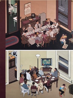 Chris Ware New Yorker Cartoonist Limited Edition Thanksgiving Print NYC Poster