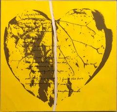 1968 Sister Corita Pop Art Silkscreen Lithograph Heart Torn Paper Collage