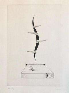 Latin American Abstract Surrealist Etching Engraving Hand Signed Edition of 10