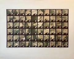 1979 Square Time Indiana, Photo Mosaic Collage Aerial Photograph, Female Aviator