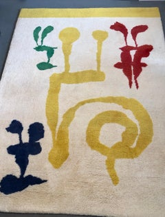 "Rare, Surrealist ""the Dream"" Vintage Tapestry Rug Joan Miro"