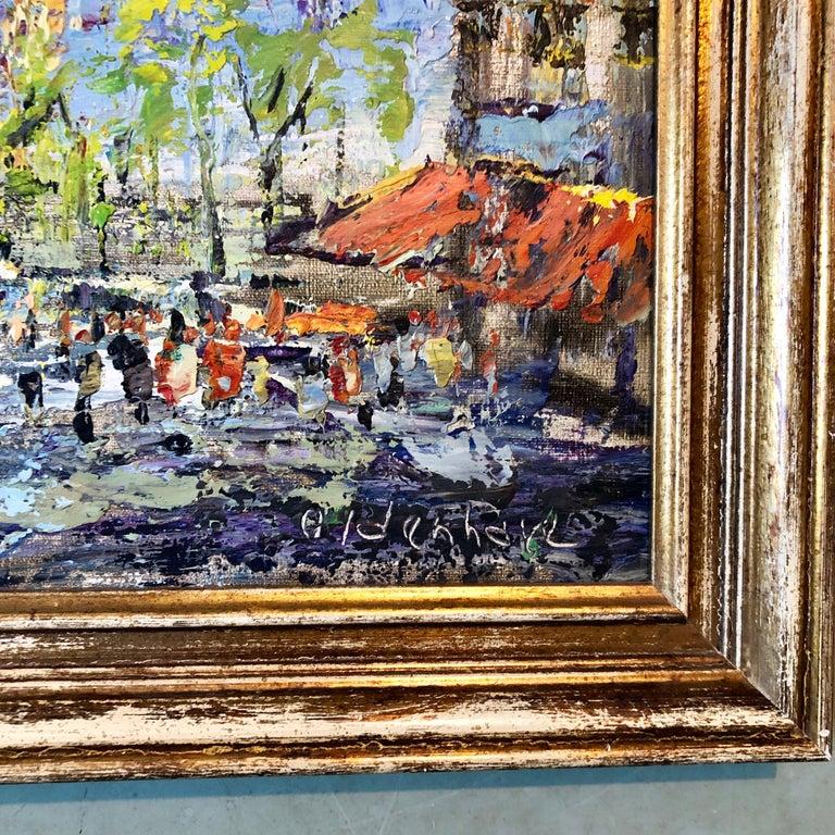 Impressionist Cityscape, Oil Painting Dutch Artist, Paris Landscape Scene For Sale 4