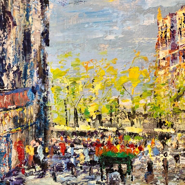 Impressionist Cityscape, Oil Painting Dutch Artist, Paris Landscape Scene For Sale 5