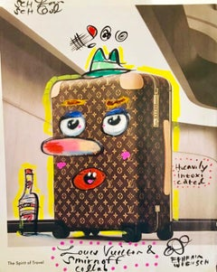 "Mixed Media ""Louis Vuitton + Smirnoff Collab"" Pop Art Drawing NYC Street Art"