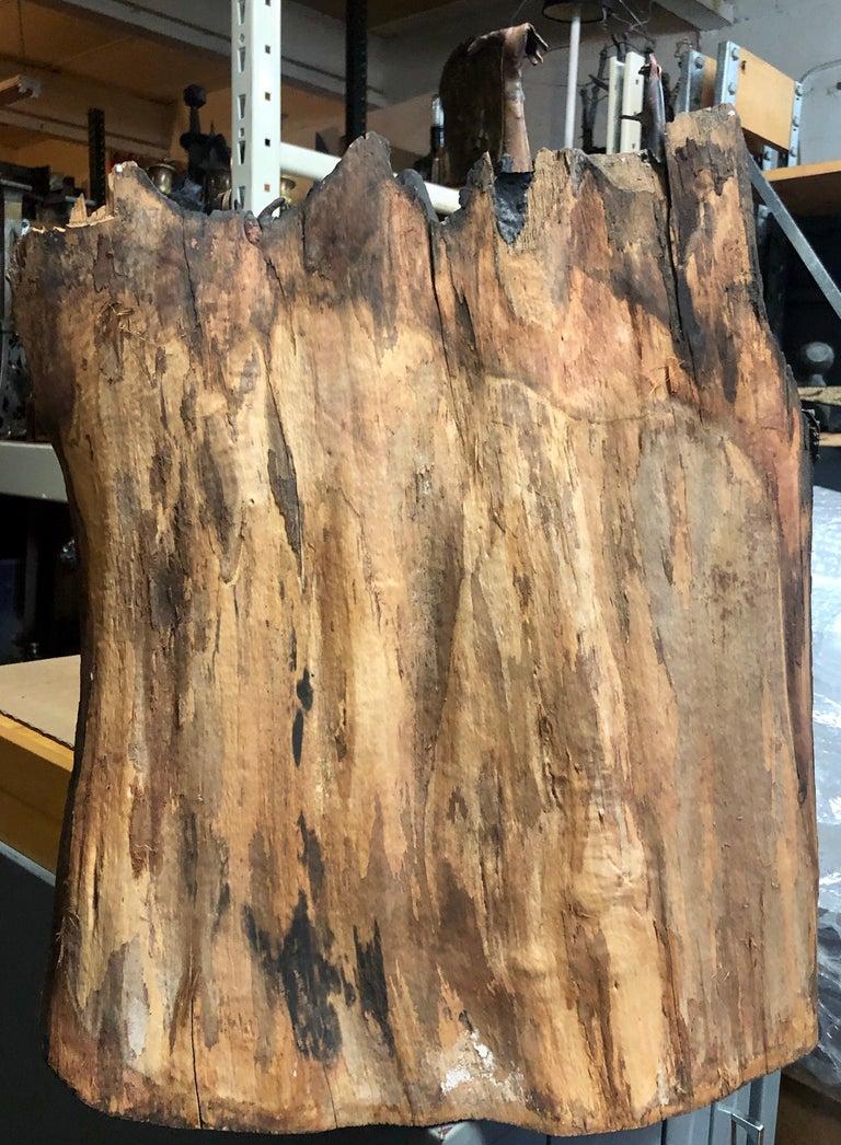 Holocaust Memorial Polish Sculpture Burnt Wood Metal Judaica Jewish Memorial Art For Sale 11