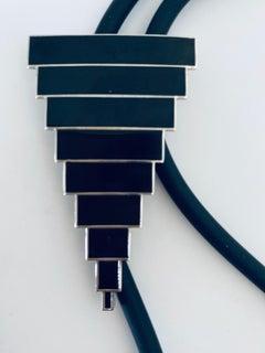 LA Modernist Laddie John Dill Acme Studios Vintage Cloisonne Enamel Art Necklace