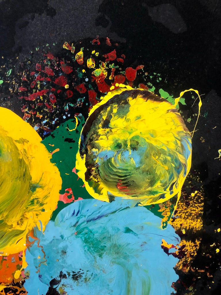 Charles Clough Picture Generation Abstract Expressionist Oil Enamel Painting For Sale 3