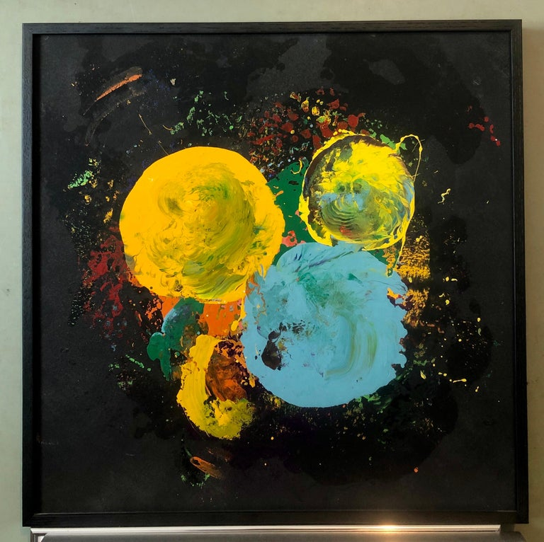 Charles Clough Picture Generation Abstract Expressionist Oil Enamel Painting For Sale 7
