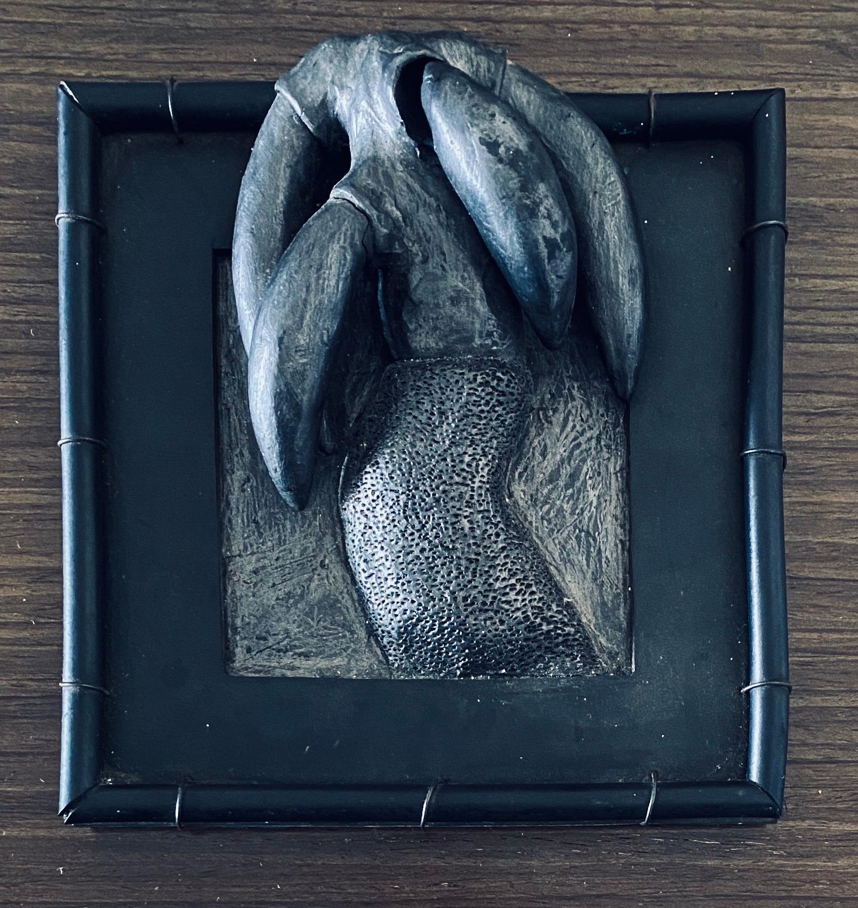 Abstract Mixed Media Biomorphism Wall Sculpture. Miami Artist Carol K Brown