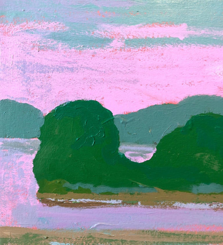 Hudson River Flats, Abstract Expressionist Landscape Oil Painting  For Sale 3