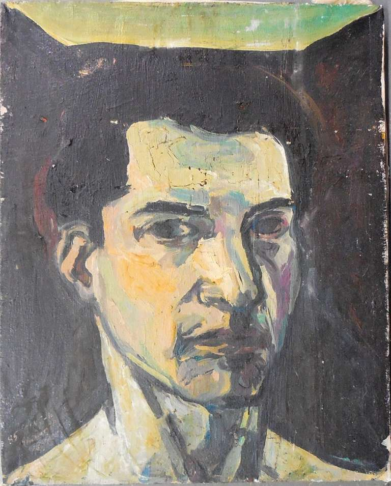 Elie Shamir Portrait Painting - portrait of a man