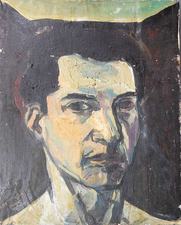portrait of a man - Painting by Elie Shamir