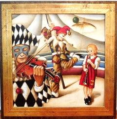 Circus Harlequin Musicians