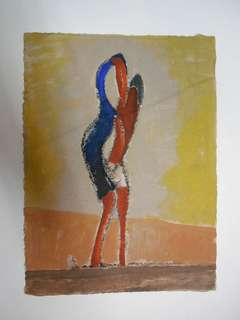 Constructivist of Futurist  gouache painting