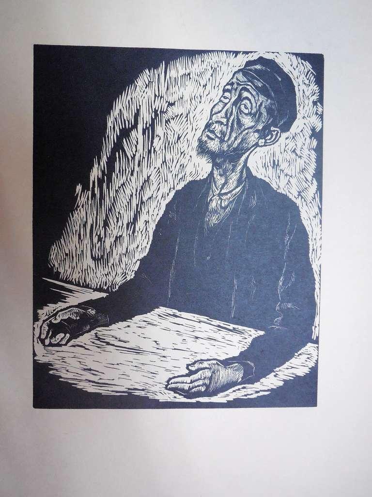 Arthur Kolnik Portrait Print - Expressionist Portrait