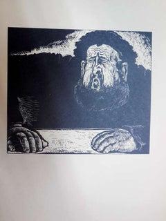 Expressionist Rabbi at study