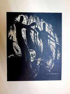 Expressionist woodcut