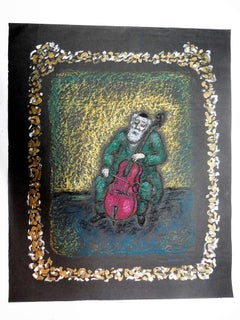 Shtetl Klezmer Musician painting and drawing