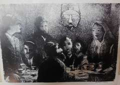 Soviet Jewish Interior print