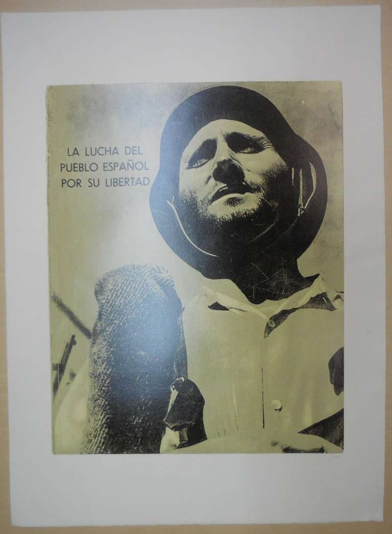 A Spanish Civil War book cover. Initialled signed in pencil From R. B. Kitaj, In Our Time: Covers for a Small Library After the Life for the Most Part, screenprint 1969 edition of 150 .6 colour screenprint, photo screenprint.  Printed by Kelpra
