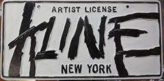 Franz Kline Artist License Plate, Pop Art