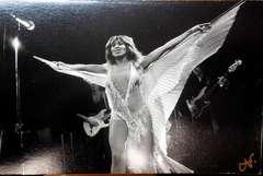 Vintage Signed Silver Gelatin Photo Card Tina Turner