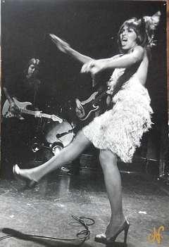Vintage Signed Silver Gelatin Photo Card Tina Turner #2