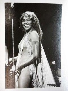 Vintage Signed Silver Gelatin Photo Tina Turner