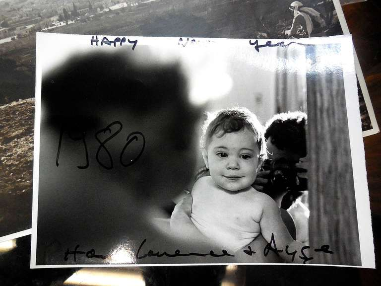 this is a rare (possibly unique) vintage silver gelatin emulsion print of the artist's daughter, it is signed and dated 1980.  Laurence Salzmann is a native of Philadelphia who has worked as a photographer/ filmmaker since the early 1960's. His