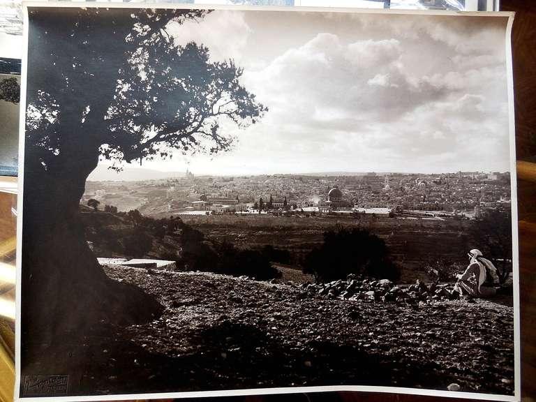 Unknown Vintage Large Albumen Photo Jerusalem Temple