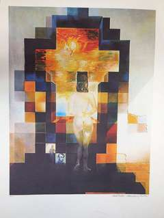 Gala Nude / Abraham Lincoln After Salvador Dali embossed lithograph