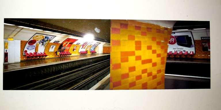 Nicoletta Munroe Color Photograph - Raspail Red, Paris Metro Series