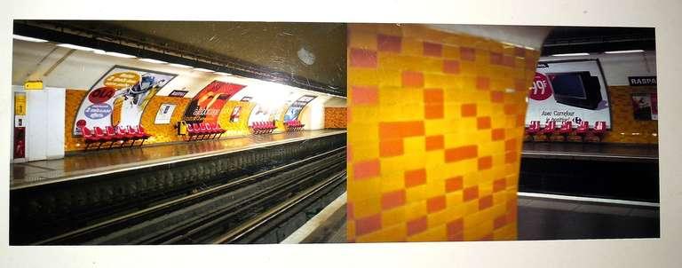 Raspail Red, Paris Metro Series - Photograph by Nicoletta Munroe