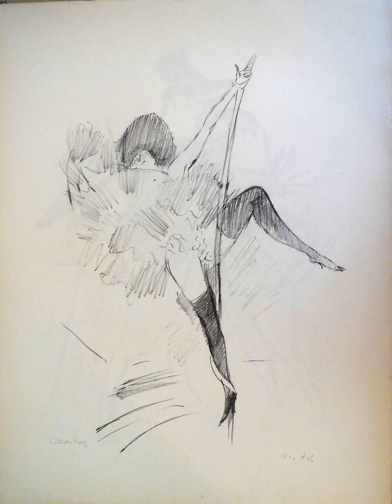 Cabaret Dancer (ala Toulouse Lautrec)