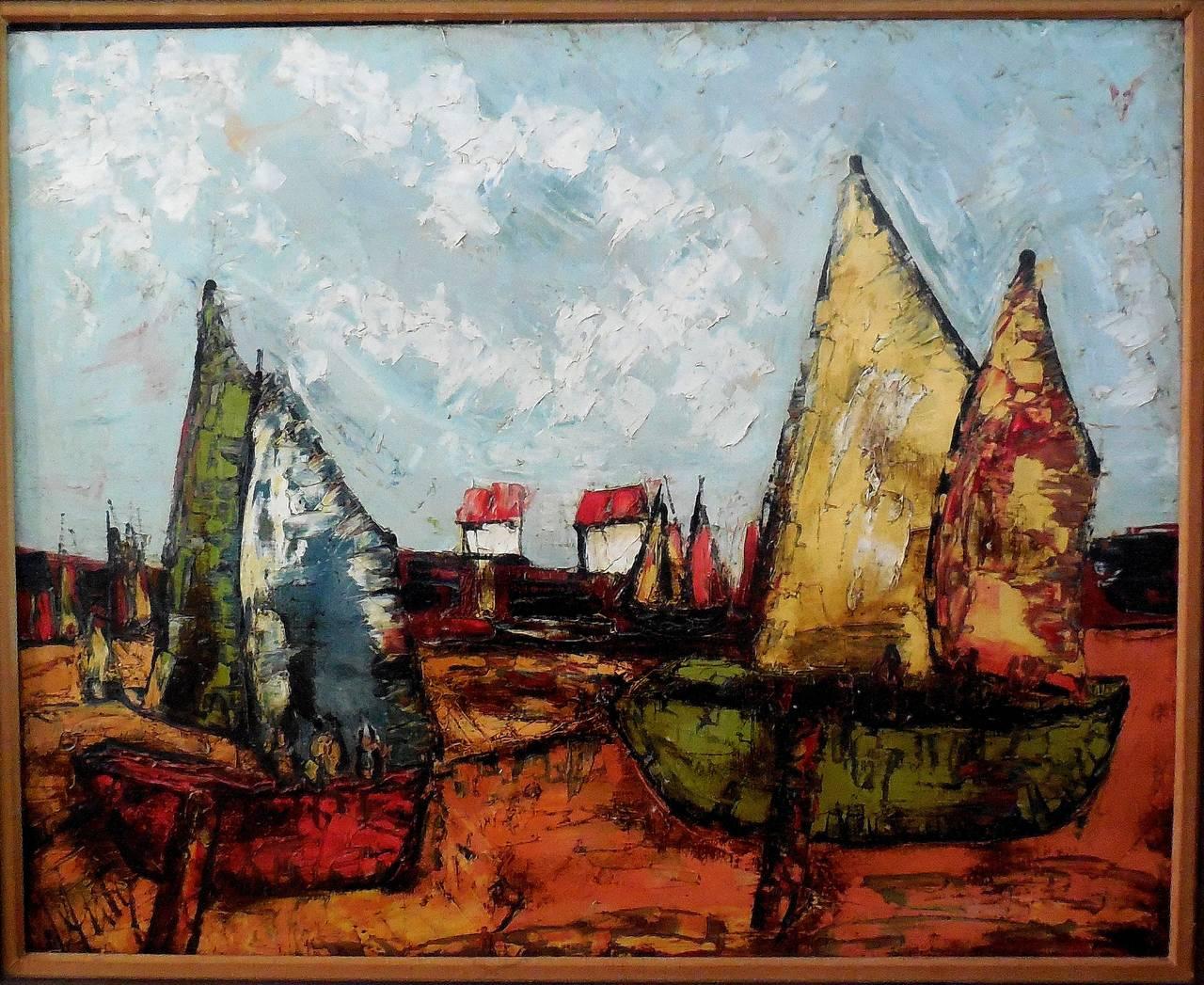 Sail Boats (Large Painting)